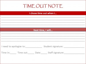 Time out note