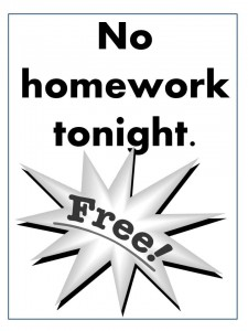no homework coupon